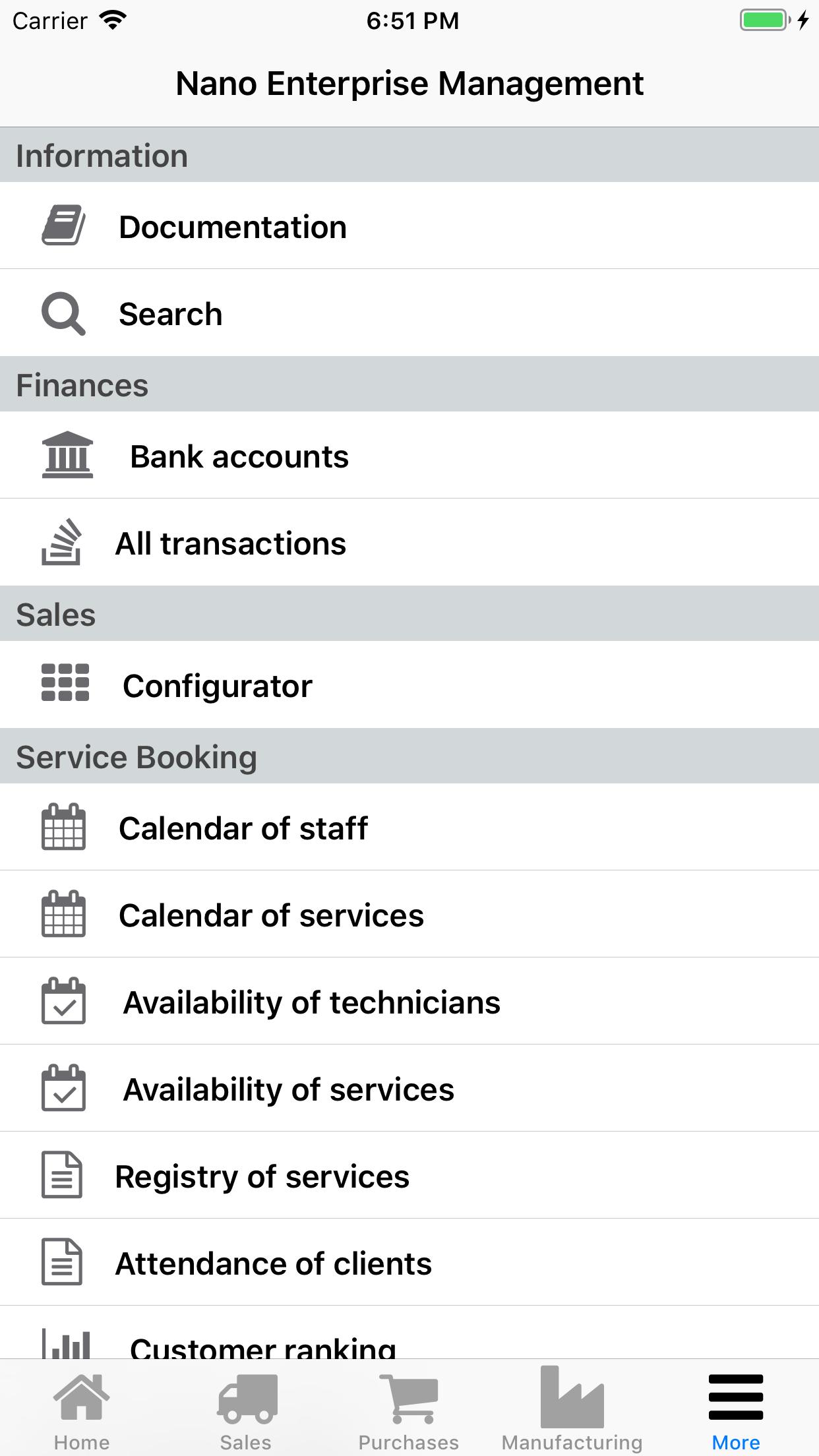 Nano Enterprise Management. Finances