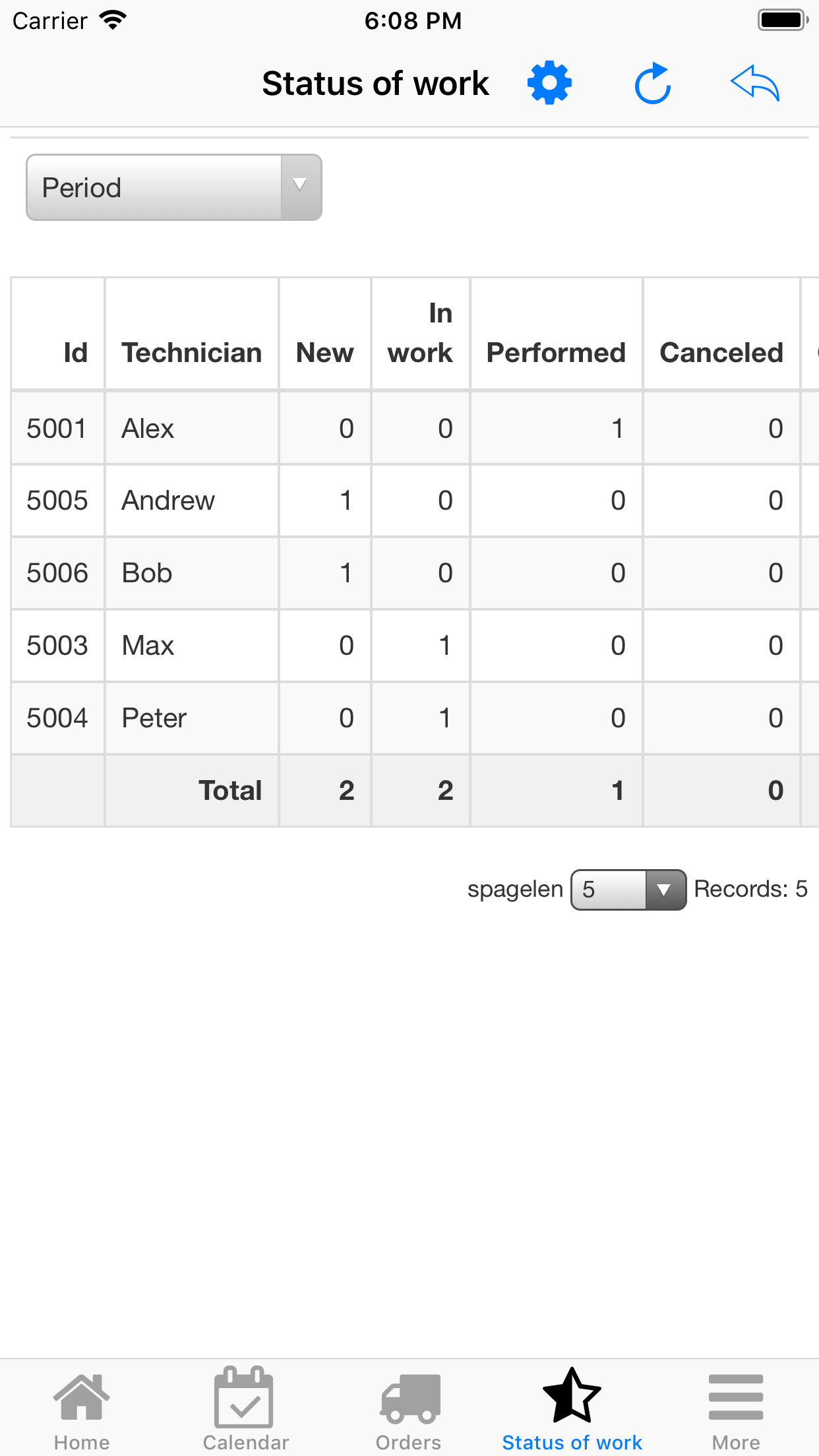 Nano Service Management. Status of works